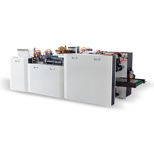 HBJ-D300全自动西点纸盒成型机(上胶、折边、成型一体机)